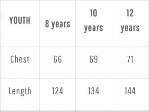 Youth Size Chart Continent Africa